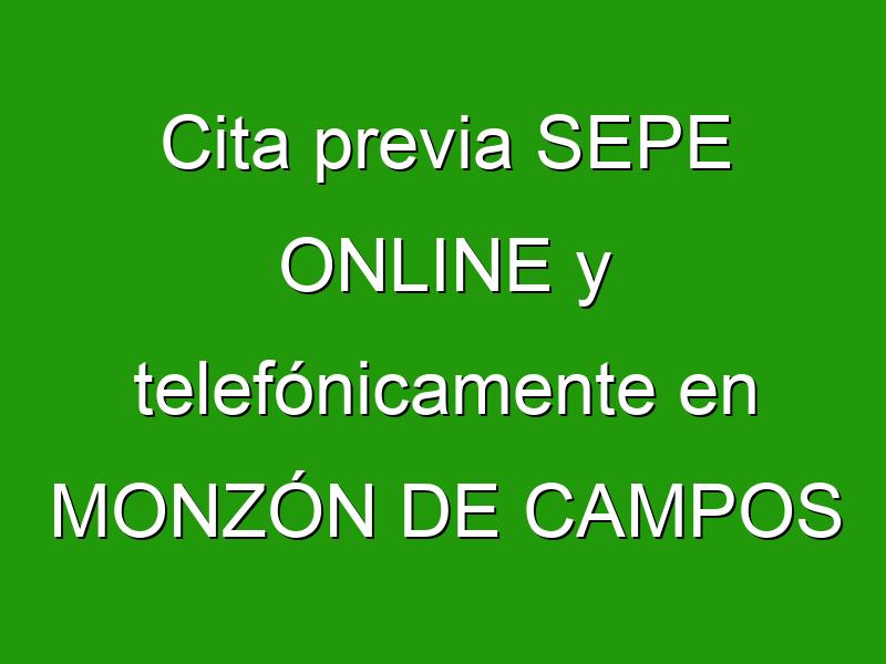 Cita previa SEPE ONLINE y telefónicamente en MONZÓN DE CAMPOS