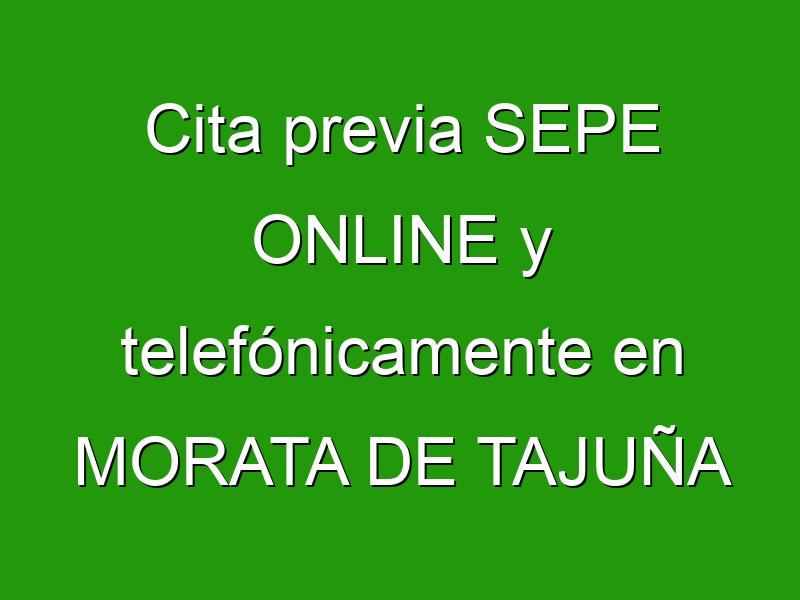 Cita previa SEPE ONLINE y telefónicamente en MORATA DE TAJUÑA