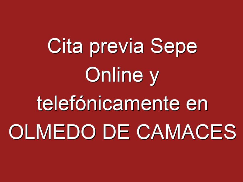 Cita previa Sepe Online y telefónicamente en OLMEDO DE CAMACES