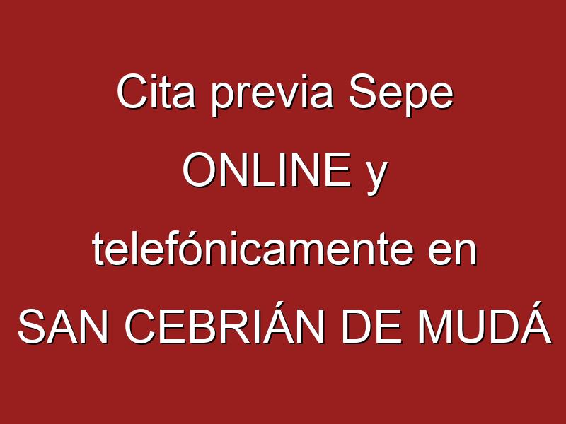 Cita previa Sepe ONLINE y telefónicamente en SAN CEBRIÁN DE MUDÁ