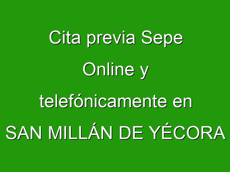 Cita previa Sepe Online y telefónicamente en SAN MILLÁN DE YÉCORA