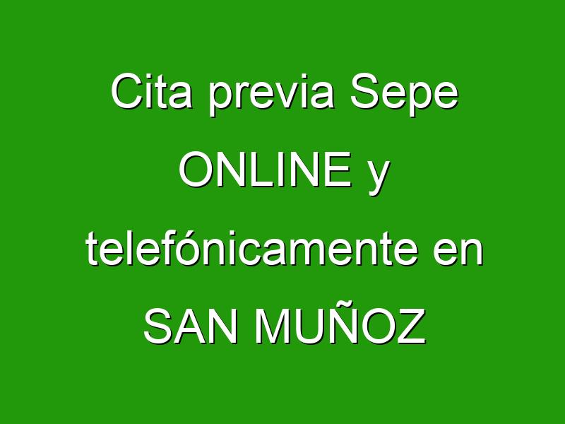 Cita previa Sepe ONLINE y telefónicamente en SAN MUÑOZ