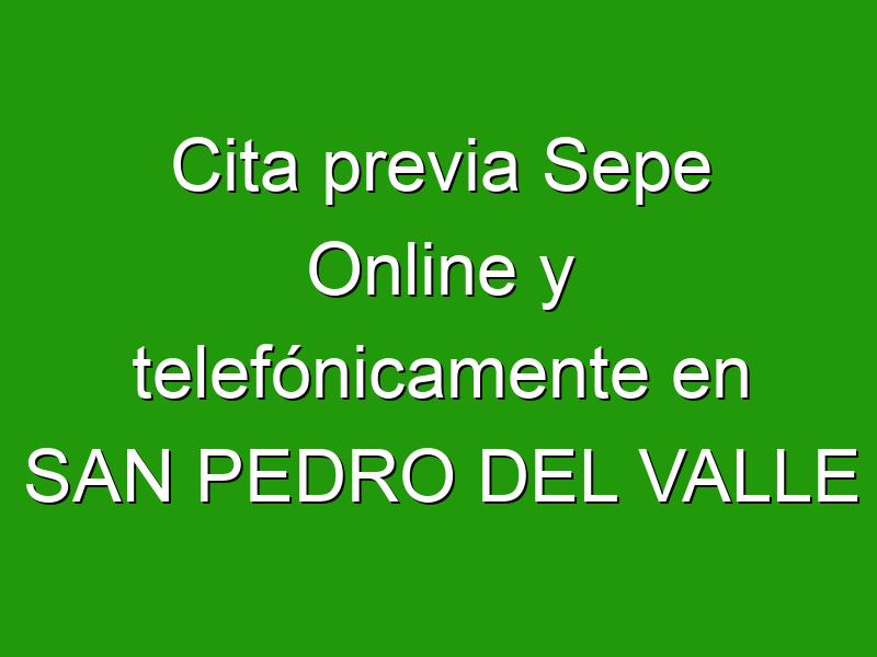 Cita previa Sepe Online y telefónicamente en SAN PEDRO DEL VALLE