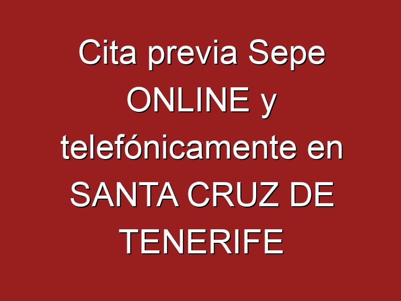 Cita previa Sepe ONLINE y telefónicamente en SANTA CRUZ DE TENERIFE