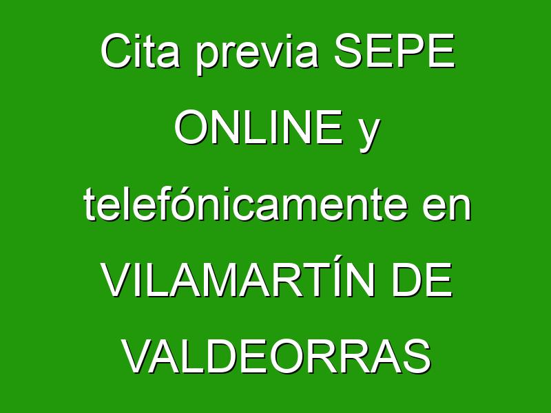 Cita previa SEPE ONLINE y telefónicamente en VILAMARTÍN DE VALDEORRAS