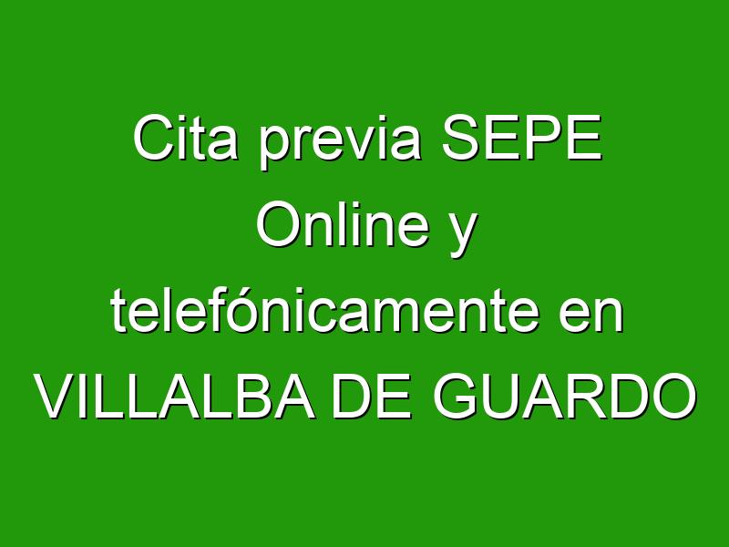 Cita previa SEPE Online y telefónicamente en VILLALBA DE GUARDO