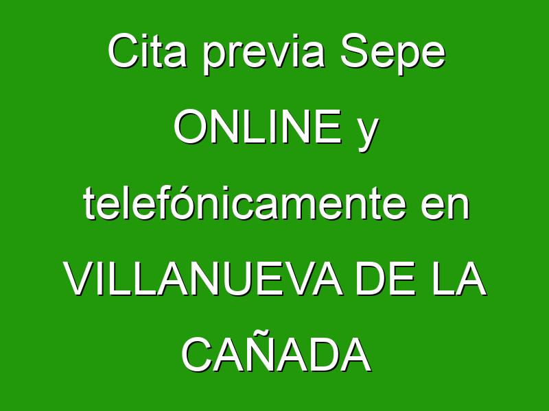 Cita previa Sepe ONLINE y telefónicamente en VILLANUEVA DE LA CAÑADA