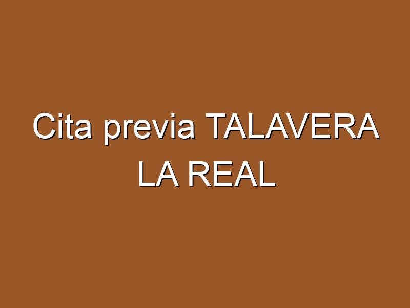 Cita previa TALAVERA LA REAL