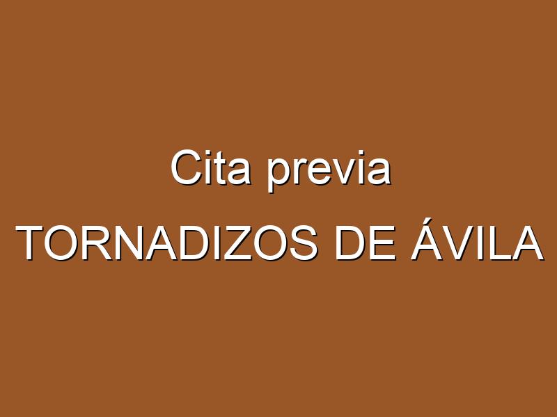 Cita previa TORNADIZOS DE ÁVILA