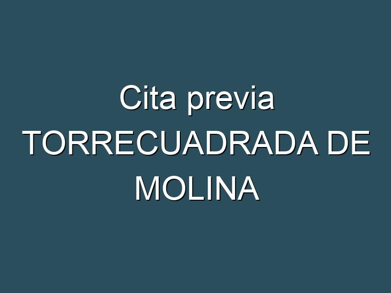 Cita previa TORRECUADRADA DE MOLINA