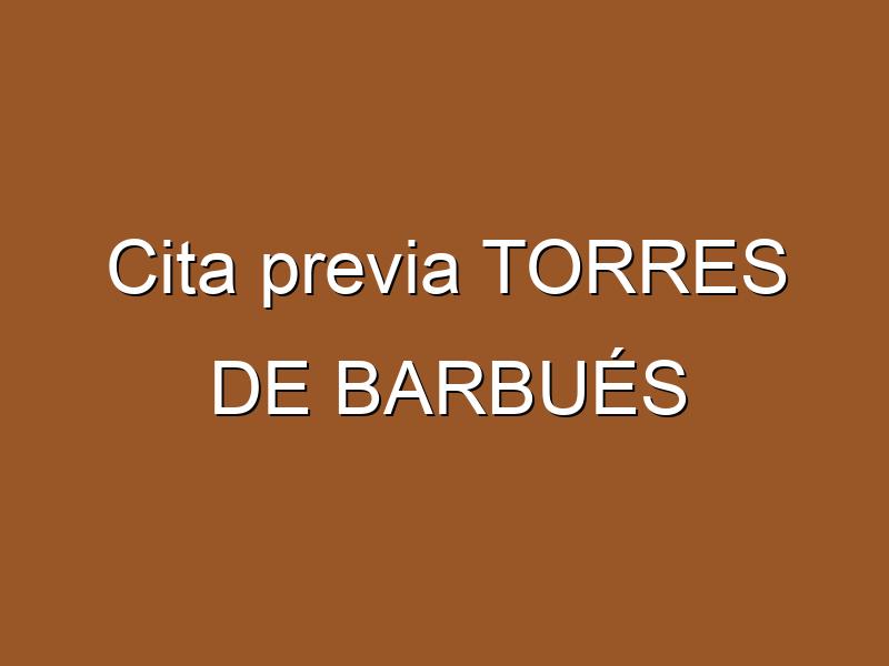 Cita previa TORRES DE BARBUÉS