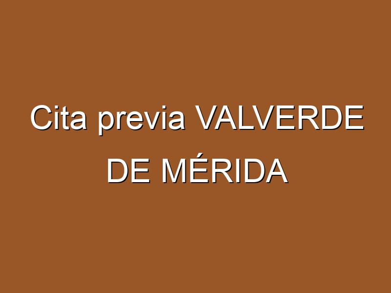 Cita previa VALVERDE DE MÉRIDA