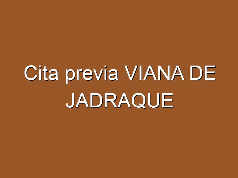 Cita previa VIANA DE JADRAQUE
