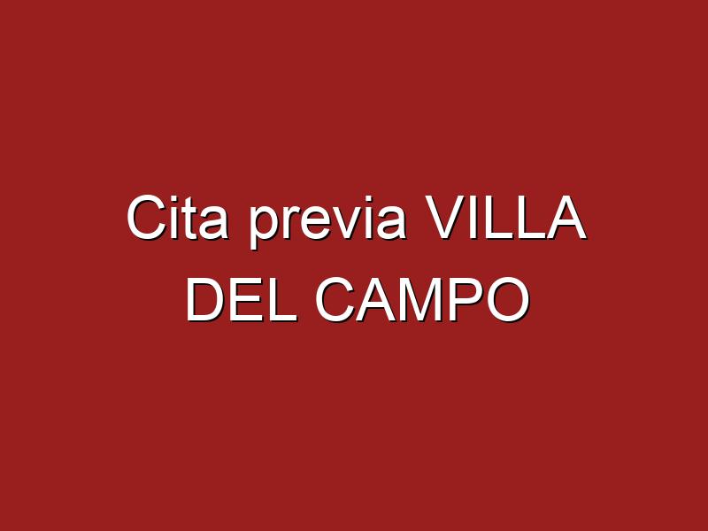 Cita previa VILLA DEL CAMPO