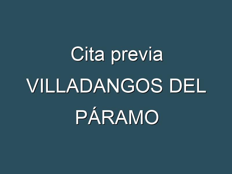 Cita previa VILLADANGOS DEL PÁRAMO