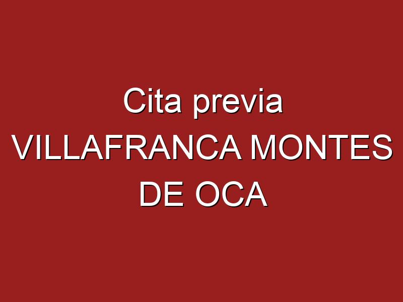 Cita previa VILLAFRANCA MONTES DE OCA