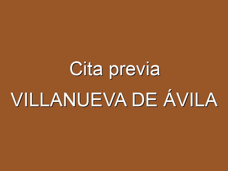 Cita previa VILLANUEVA DE ÁVILA