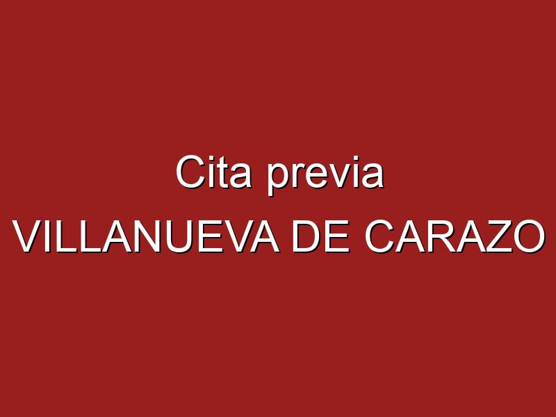 Cita previa VILLANUEVA DE CARAZO