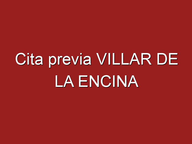Cita previa VILLAR DE LA ENCINA