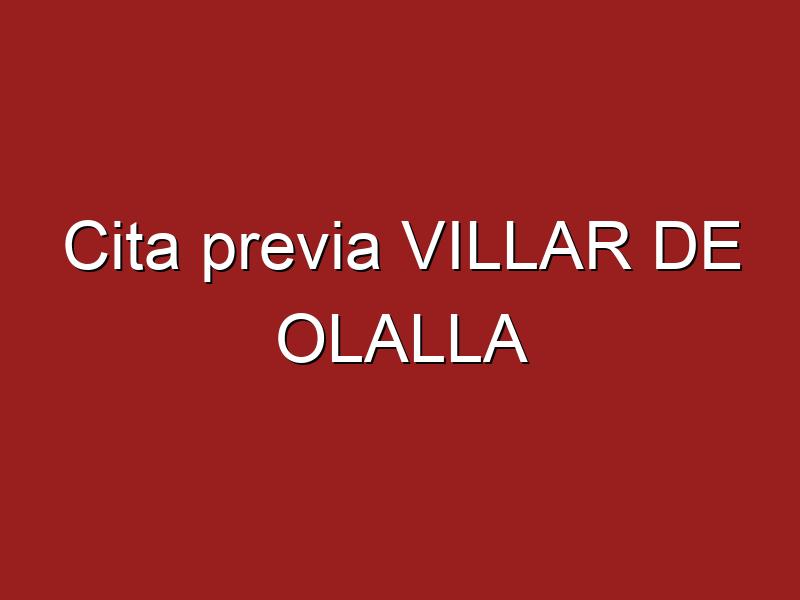 Cita previa VILLAR DE OLALLA