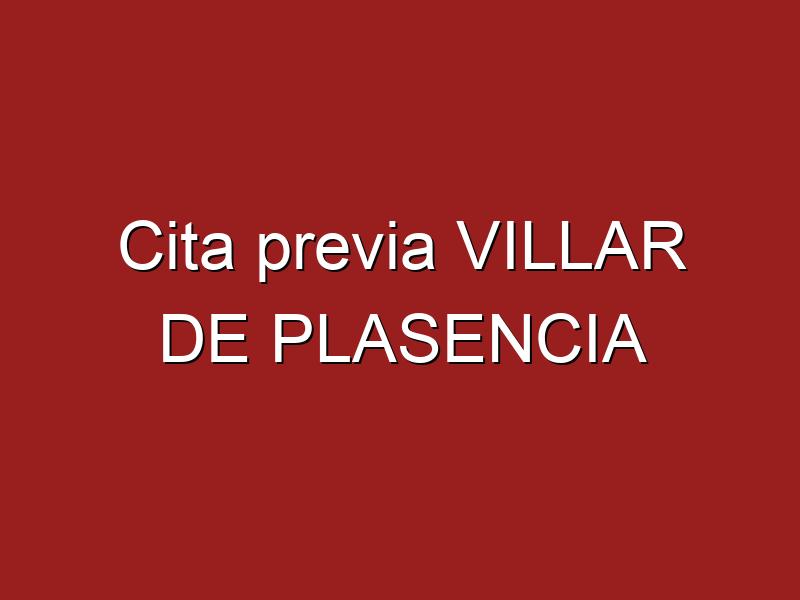 Cita previa VILLAR DE PLASENCIA