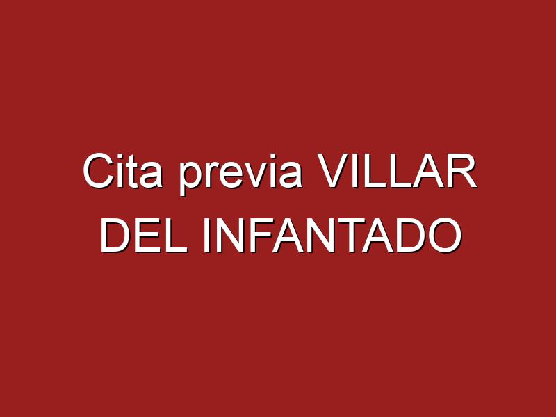 Cita previa VILLAR DEL INFANTADO