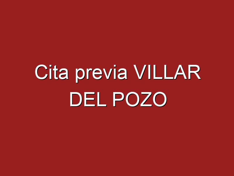 Cita previa VILLAR DEL POZO