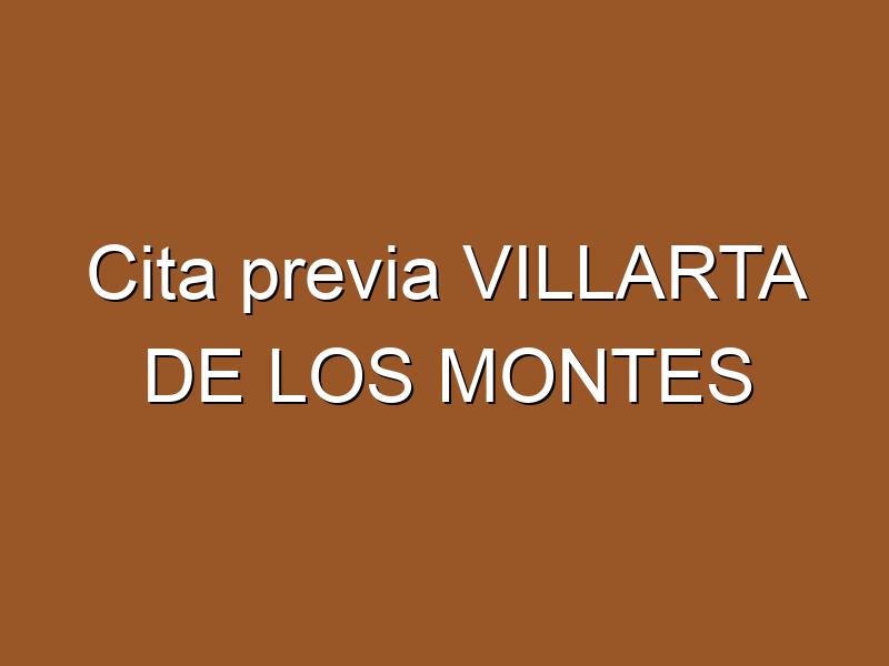 Cita previa VILLARTA DE LOS MONTES