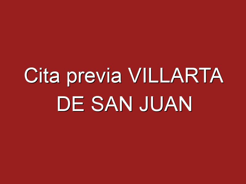 Cita previa VILLARTA DE SAN JUAN