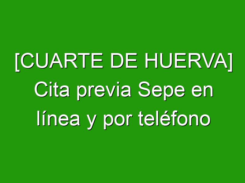 [CUARTE DE HUERVA] Cita previa Sepe en línea y por teléfono
