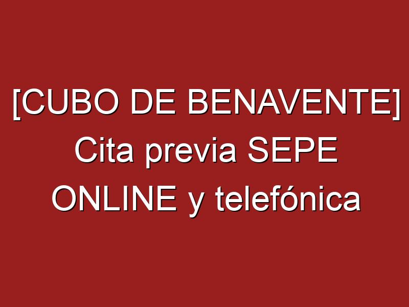 [CUBO DE BENAVENTE] Cita previa SEPE ONLINE y telefónica
