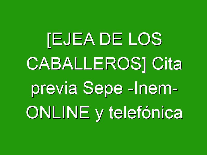 [EJEA DE LOS CABALLEROS] Cita previa Sepe -Inem- ONLINE y telefónica