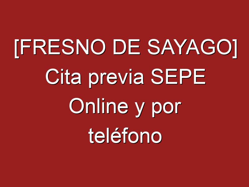 [FRESNO DE SAYAGO] Cita previa SEPE Online y por teléfono