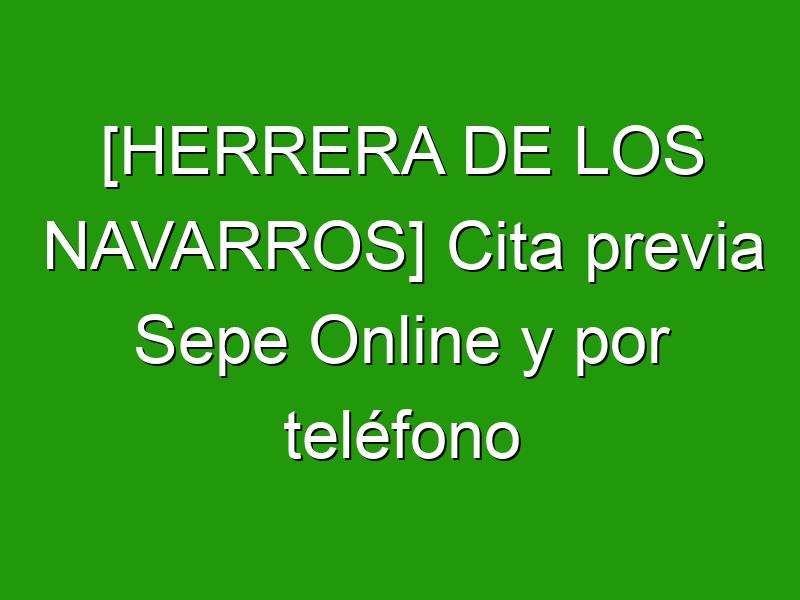 [HERRERA DE LOS NAVARROS] Cita previa Sepe Online y por teléfono