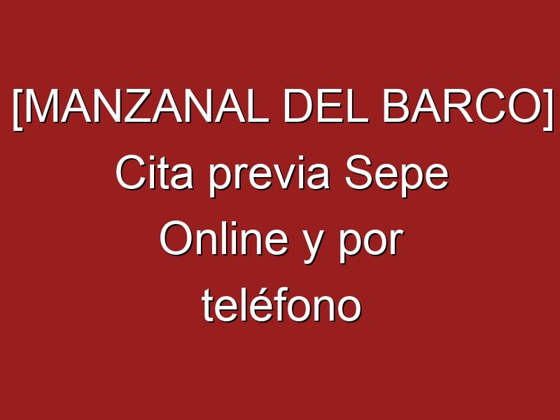 [MANZANAL DEL BARCO] Cita previa Sepe Online y por teléfono