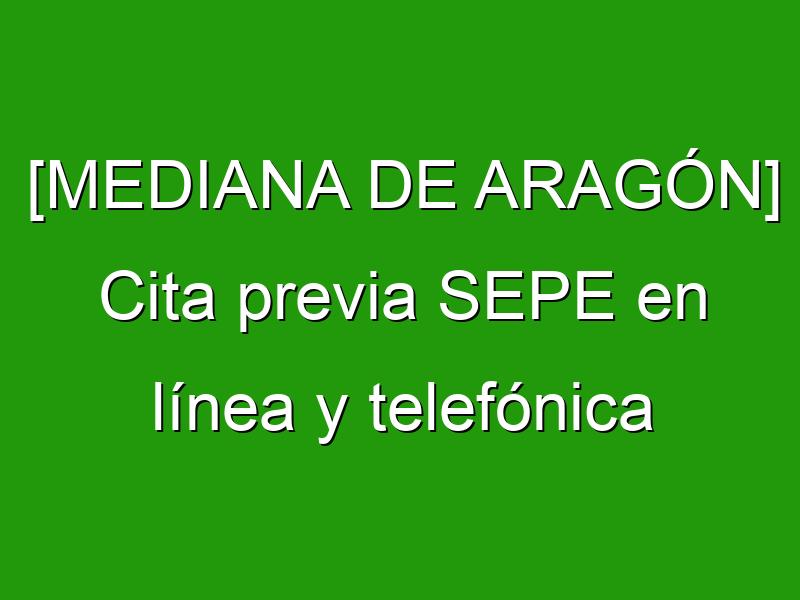 [MEDIANA DE ARAGÓN] Cita previa SEPE en línea y telefónica