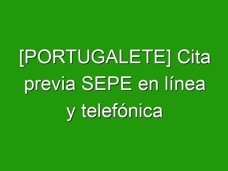 [PORTUGALETE] Cita previa SEPE en línea y telefónica
