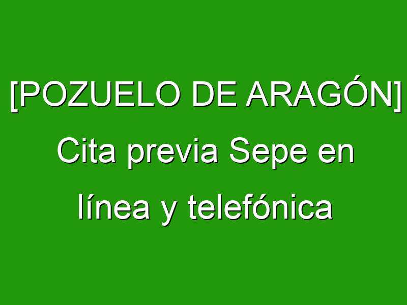 [POZUELO DE ARAGÓN] Cita previa Sepe en línea y telefónica