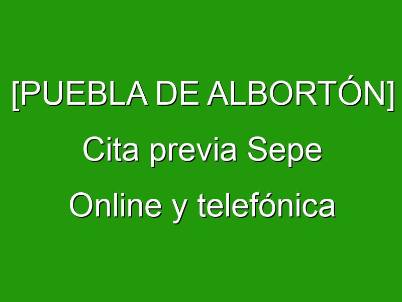 [PUEBLA DE ALBORTÓN] Cita previa Sepe Online y telefónica