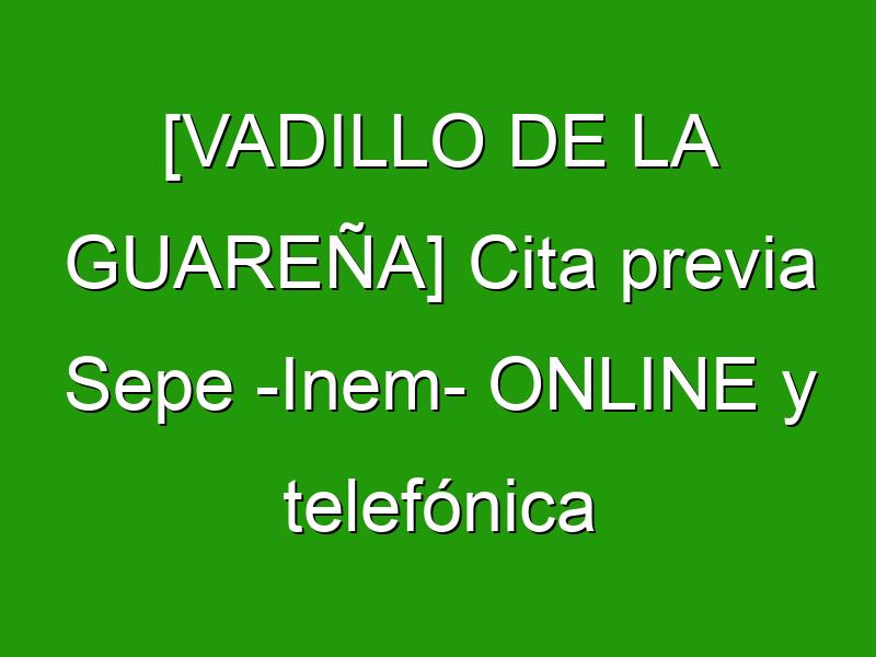 [VADILLO DE LA GUAREÑA] Cita previa Sepe -Inem- ONLINE y telefónica