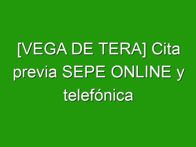 [VEGA DE TERA] Cita previa SEPE ONLINE y telefónica