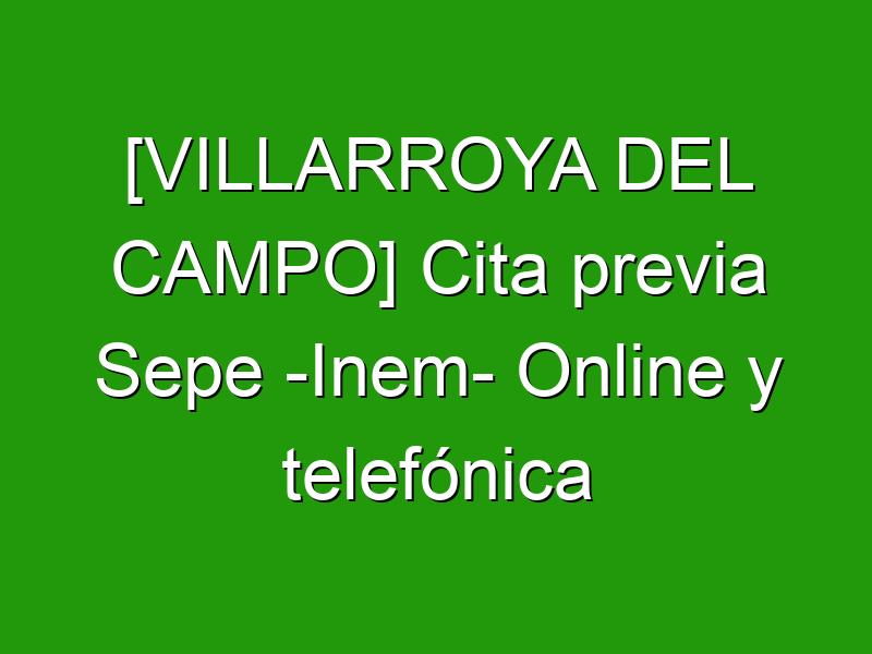 [VILLARROYA DEL CAMPO] Cita previa Sepe -Inem- Online y telefónica